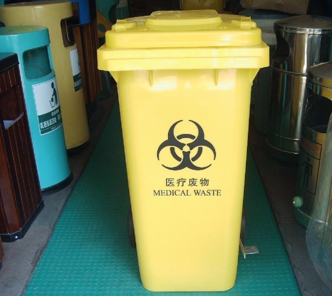 sx-005 医疗垃圾桶采用工程塑料制作,桶身开口处特有防渗漏设计.