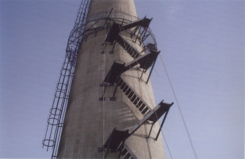 水塔刷油漆写字,电厂双曲线砼冷却塔刷涂料画图