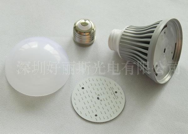大功率f72系列led球泡灯外壳结构件