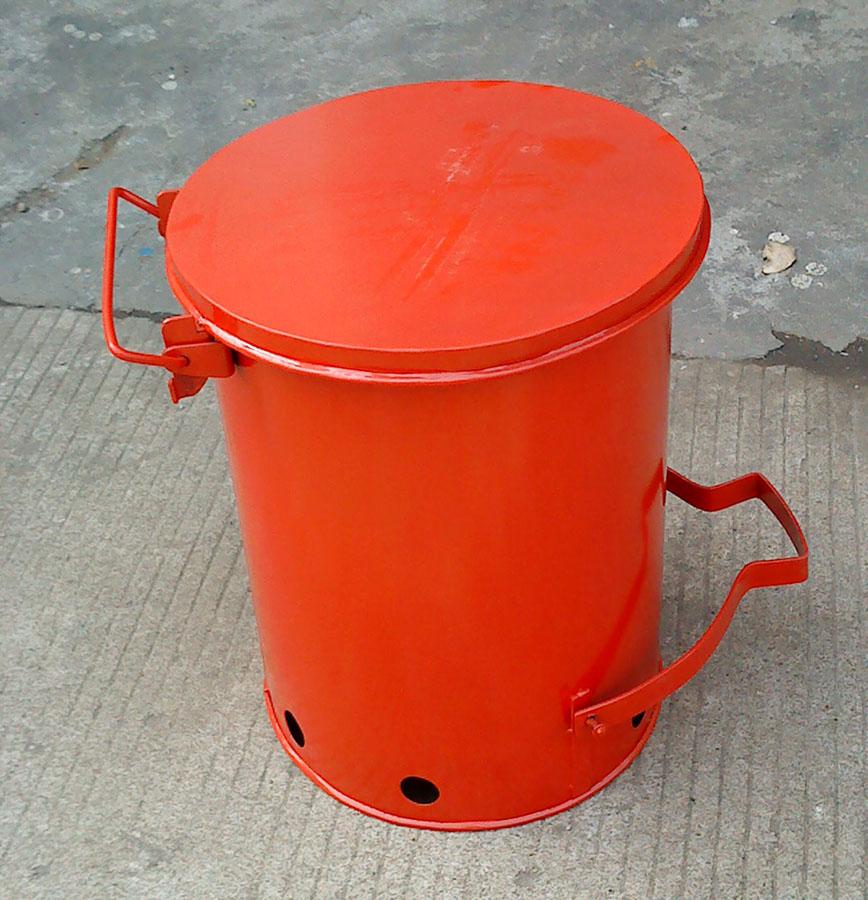 脚踏垃圾桶-镀锌钢垃圾桶