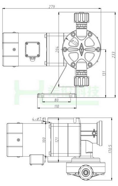 二,djl机械不锈钢隔膜计量泵结构图    &nbsp