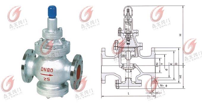 y43h蒸汽减压阀-先导活塞式减压阀-中国环保设备网; 铜减压阀; 图片