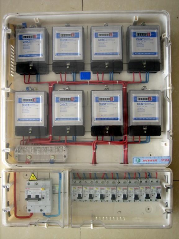 八户预付费式pc电表箱 聚碳酸酯电表箱