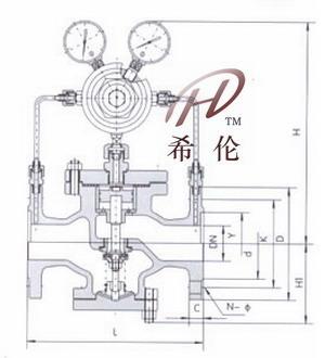 dp27导阀型隔膜式减压阀,25p减压阀是新型先导式超大膜片减压阀,y14f