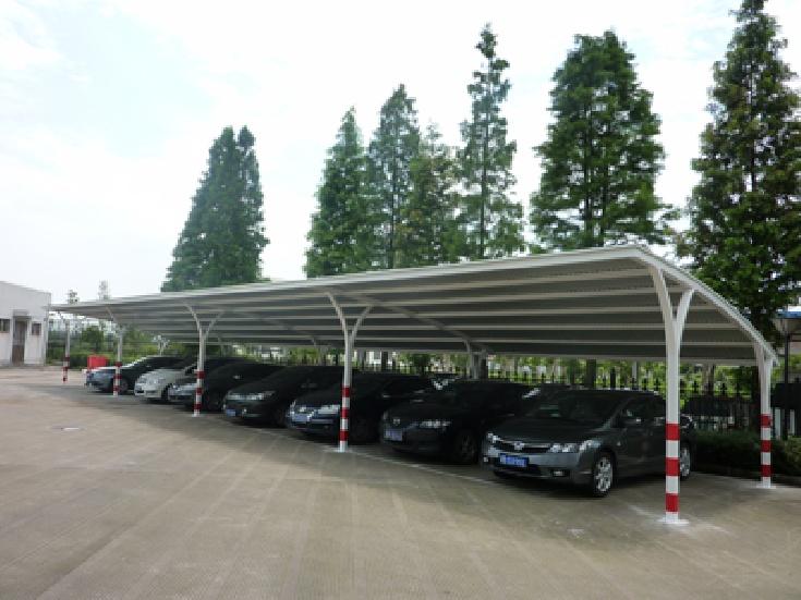 西安钢结构汽车车棚_陕西膜结构车棚_电动车充电棚厂家