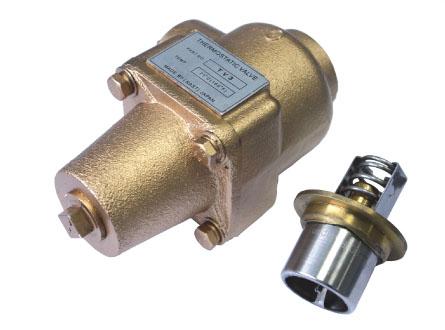 则润滑油直接从油气桶回到主机,当温控阀感温元件所测的油温高于动作图片