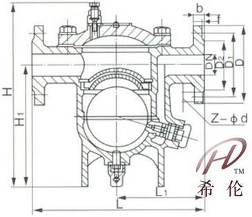 cs41h自由浮球式疏水阀结构图