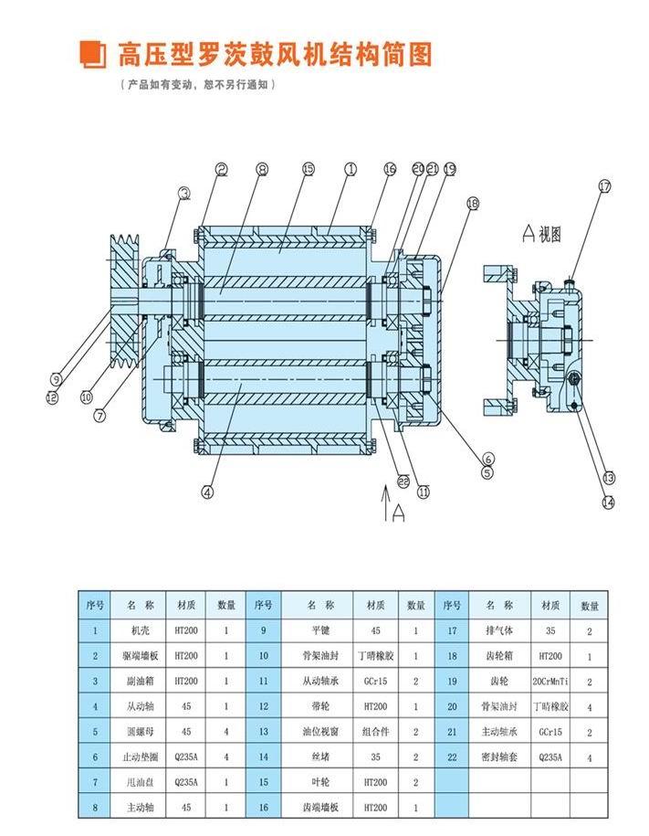 罗茨真空泵结构图 罗茨真空泵结构图上海 罗茨真空泵内部结构图