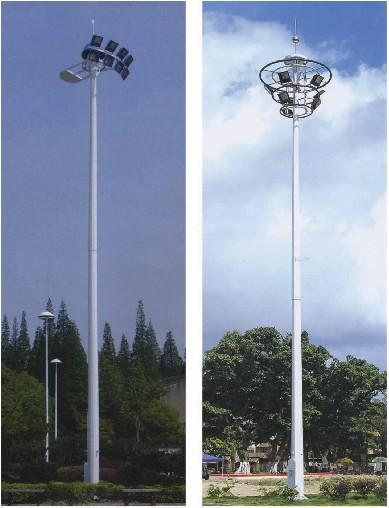 杆体一般为圆柱型独体结构,用钢板卷制而成,高度为15—40米