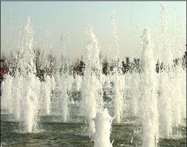 景观单体手绘喷泉