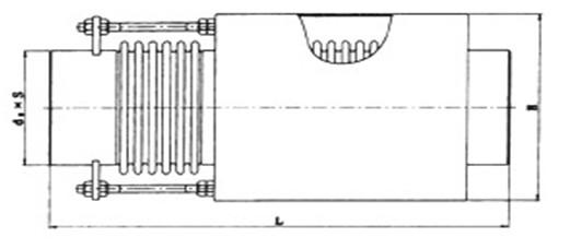 内外压力平衡式波纹补偿器(金属波纹伸缩节)结构