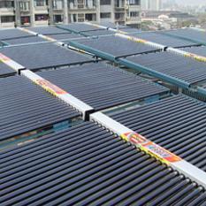 单位人少用水量也少,请用太阳能家用单机串并联安装方案