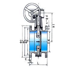 旋转而进行启闭的一种阀门,它不仅可用作切断介质,还可用作调节介质的图片