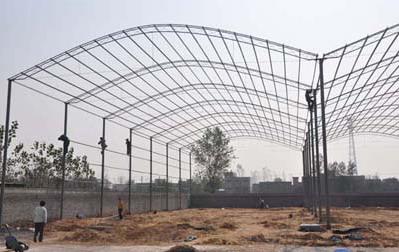 某日光温室结构设计图 海安富民温室大棚厂 上海彩钢圆棚安装