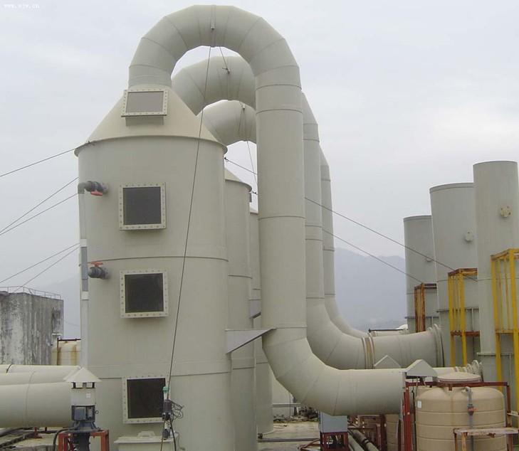 塔,辽宁大连酸雾处理工程,废气处理设备 公司名称:达沃森(青岛)环保