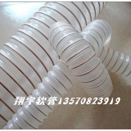 PU透明钢丝管,钢丝螺旋增强软管,耐压工业软管