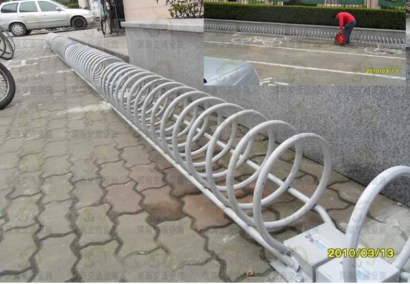 便于在行人道,停车场上的自行车停放管理,并在一定程度上起到防图片
