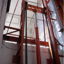 山东省潍坊市链条导轨式液压升降货梯