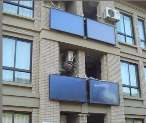 阳台壁挂平板太阳能热水器