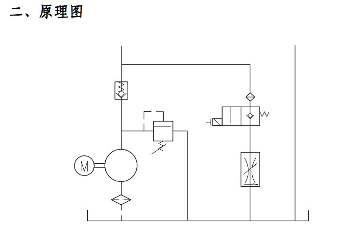 桅杆升降机简易停车设备2液压系统图片