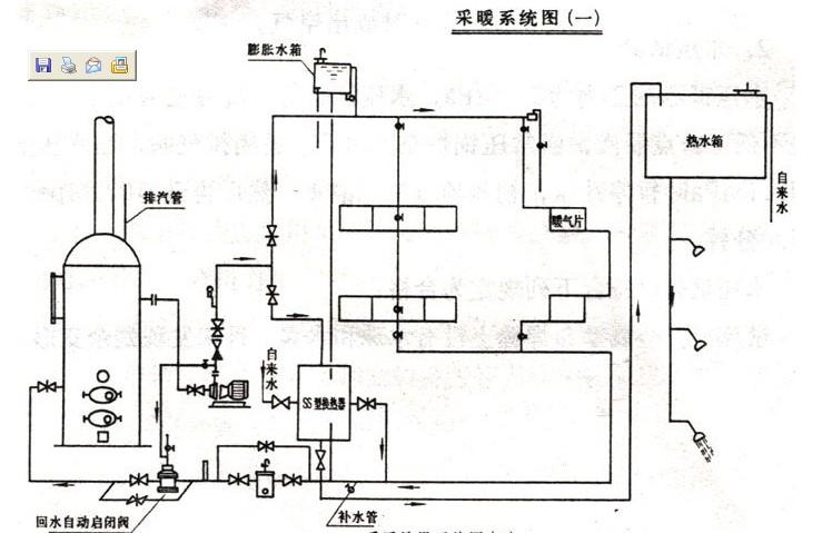 蒸汽式锅炉结构图