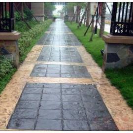 供应上海市政压印地坪-压印混凝土-彩色压印路面材料施工厂家