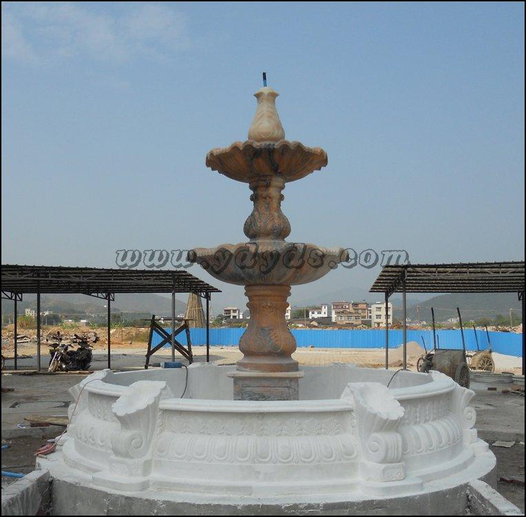 欧式雕塑喷泉模型