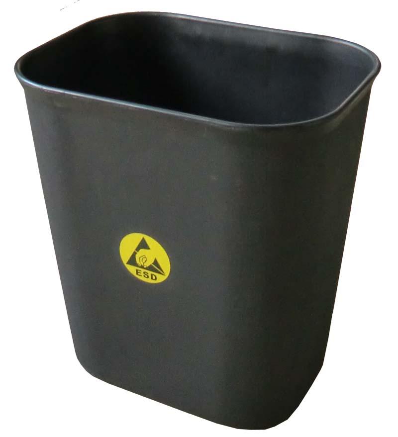 防静电垃圾桶 技术指标 1、体积电阻:106—109Ω.CM 2、静电衰减时间:1000V/100V小于1.0S 3、摩擦电压:小于100V 4、规格:圆形250*270 5、色泽:黑色 6、基材为:防静电PP 7、样式:圆形平口,带金属提手。 用途:,消除静电,大量用于ESD区废置东西的堆放。防静电车间、无尘车间文件的收集,广泛适用于静电敏感区域、可用于净化环境(微电子、生物、医疗等等) 防静电垃圾桶可以有效的释放物体表面积累的静电荷,使其不会产生电荷积聚和高电位差; 规格:直径