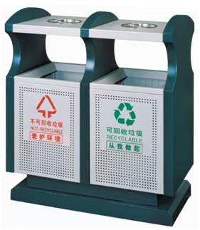 桶分可回收垃圾,不可回收垃圾