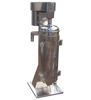 结构原理图     高速管式分离机在众多分离机设备中属高速精分设备