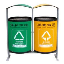 LF-102环保垃圾桶 两格垃圾桶 蓝黄两色垃圾桶 二分类垃圾桶
