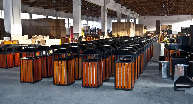 木条垃圾桶厂家 钢木垃圾桶厂家