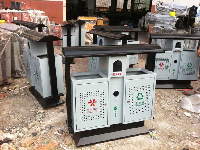金属垃圾桶,垃圾箱  [产品功能]:采用全钢结构
