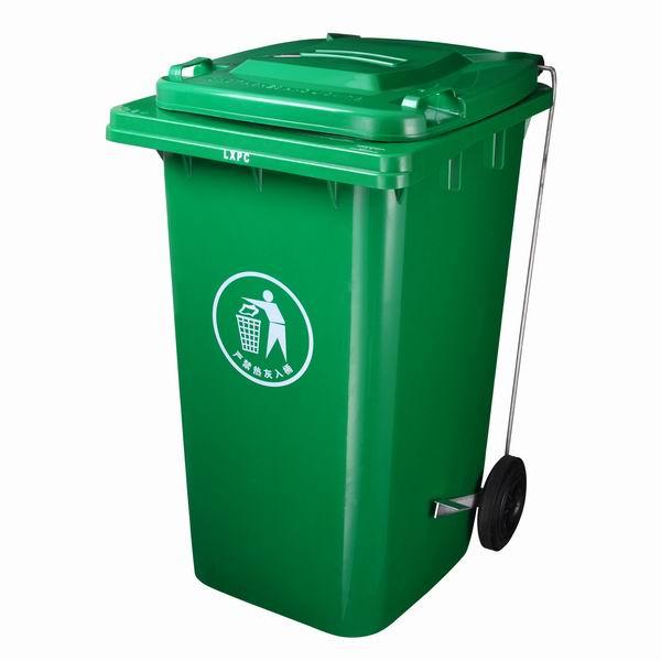 商丘塑料垃圾桶】郑州塑料垃圾筒】河南垃圾桶厂家 容积:120L 颜色:绿色 材料:采用100%高密度聚乙稀(HDPE)制造,注入高质量防晒紫外线原料占2%,颜料色素占3%以上),确保塑料垃圾桶颜色保持鲜艳,耐久不褪色长达8年以上。 质保期:正常使用周期大于5年 包装材料:热缩膜、打包带、缠绕膜 包装工艺:盖子交叉叠加用热缩膜热缩好后,打包系好,或安装在桶体缠绕膜缠绕;桶体叠加后整体用缠绕膜缠绕。运输方式:汽车运输 交货地点:用户指定地点商丘市垃圾桶、商丘户外垃圾桶、、湖北垃圾桶、山西垃圾桶、陕西户外垃圾桶