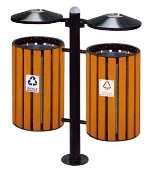 珠海环保分类垃圾桶 珠海钢木垃圾桶