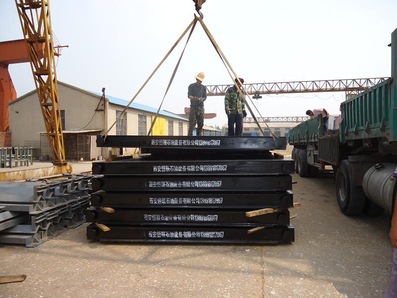 生产不同规格的钢木基础