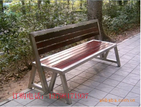 公园长椅,户外休息椅,钢木椅子