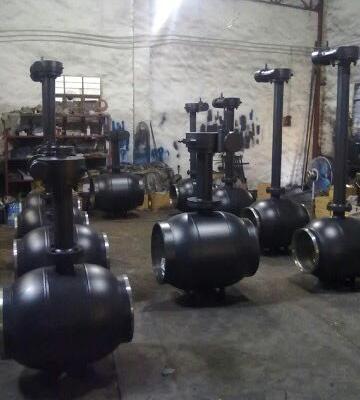 蜗轮全焊接固定球阀供应_品牌_价格图片