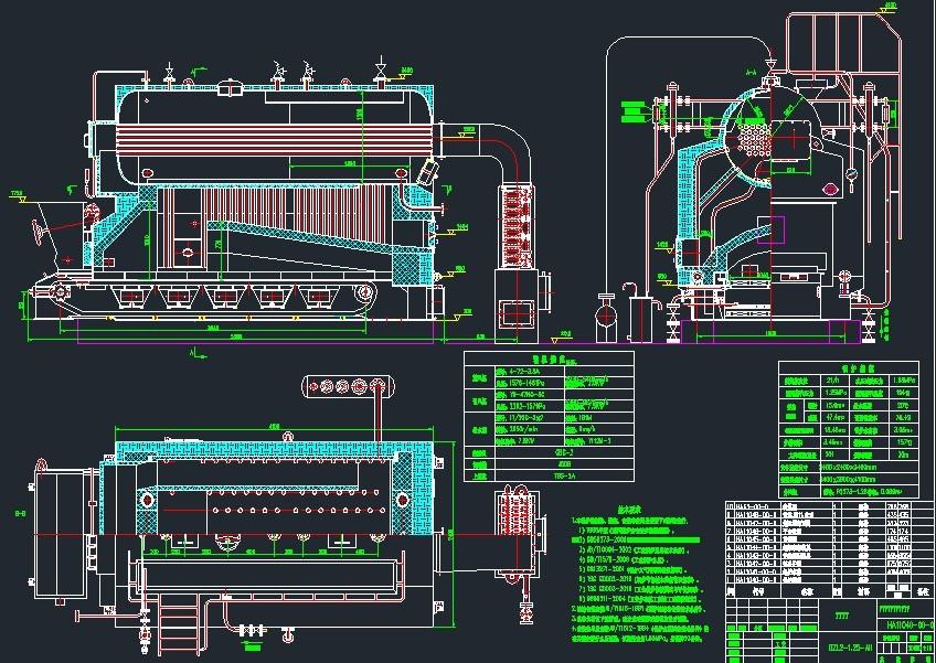 dzl6/dzl8/dzl10系列蒸汽卧式燃煤蒸汽锅炉技术规范(2)锅炉型号 dzl6