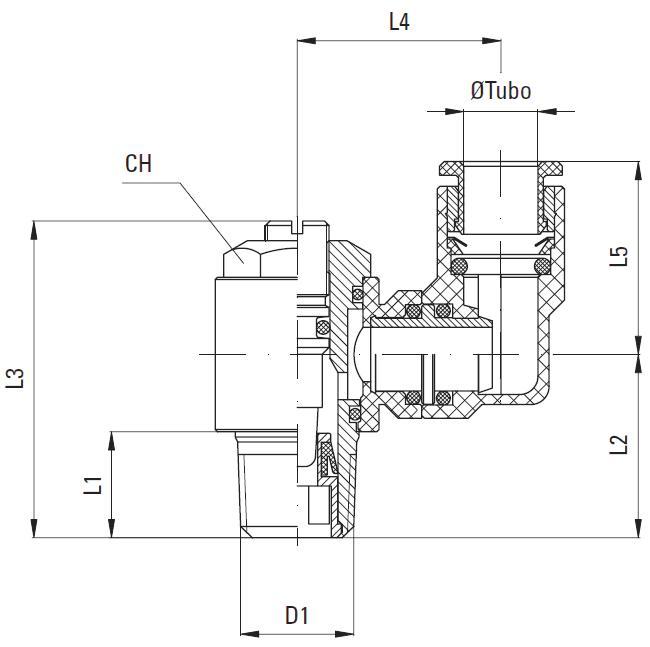 液壓旋轉接頭結構圖