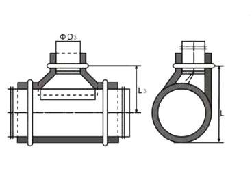 结构图样: :   镀锌保温偏心马鞍三通成形是将大于镀锌保温偏心马鞍