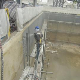垃级污水池聚脲防水防腐涂料聚脲喷涂施工