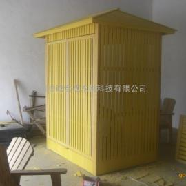塑木天然气调压箱装饰柜,天然气调压箱柜塑木外罩