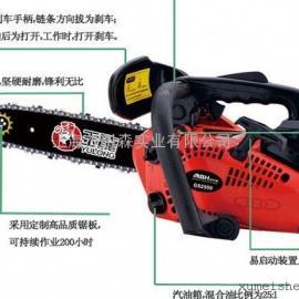 日本共立CS-350TES油锯|共立单把手油锯
