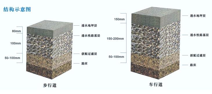 宁波城市绿道彩色透水混凝土地坪-树池施工-材料厂家