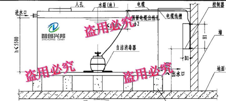 河北智创兴邦环保科技有限公司 产品展示 水箱自洁消毒器 生活水箱自