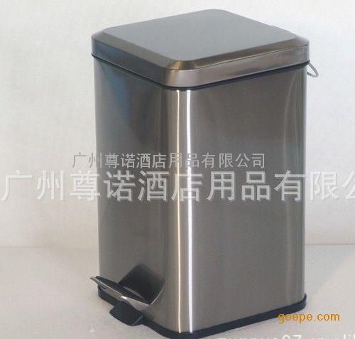 不锈钢方形脚踏垃圾桶