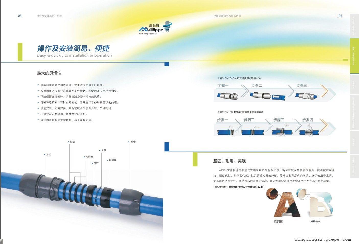 新型快装airpipe铝合金空气压缩管道