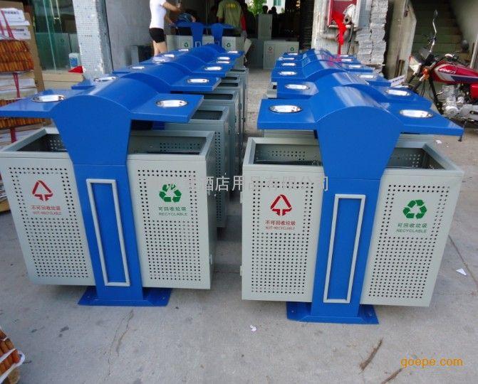 小区分类环保垃圾桶 钢板烤漆果皮箱