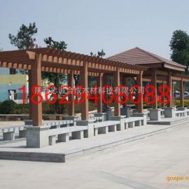 塑木廊架,木塑花架,新疆甘肃塑木廊架生产厂家